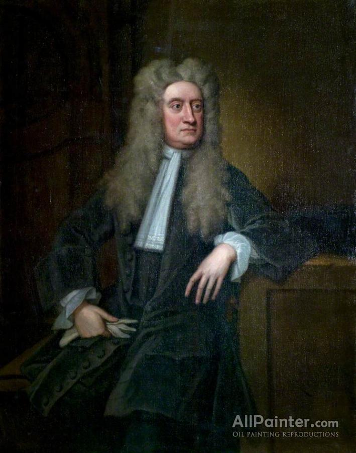 Sir Godfrey Kneller, Bt. Sir Isaac Newton Oil Painting ...