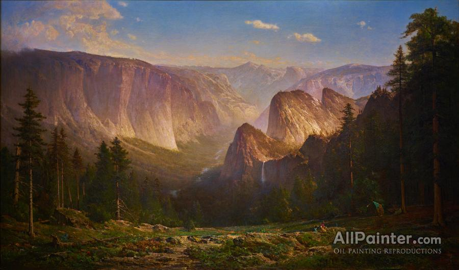 Thomas Hill paintings for sale:Piute Camp, Great Canyon Of The Sierra, Yosemite