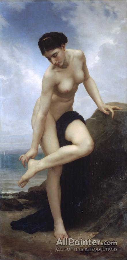 William Adolphe Bouguereau paintings for sale:After The Bath, 1875