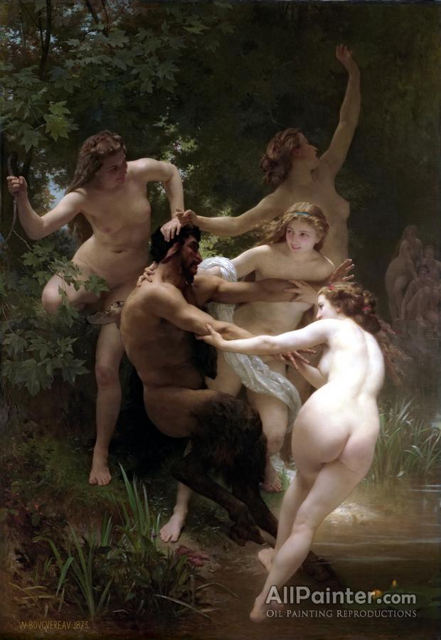 William Adolphe Bouguereau paintings for sale:Nymphs And Satyr (1873)