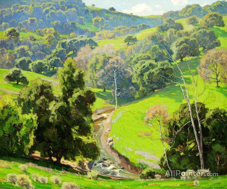William Wendt paintings for sale:The Mantle Of Spring