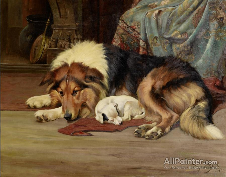 Wright Barker paintings for sale:A Cosy Spot