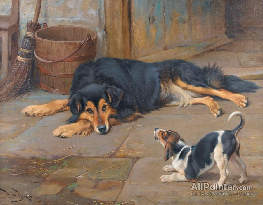 Wright Barker paintings for sale:Dignity And Impudence